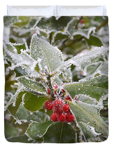 Christmas Greetings Duvet Cover