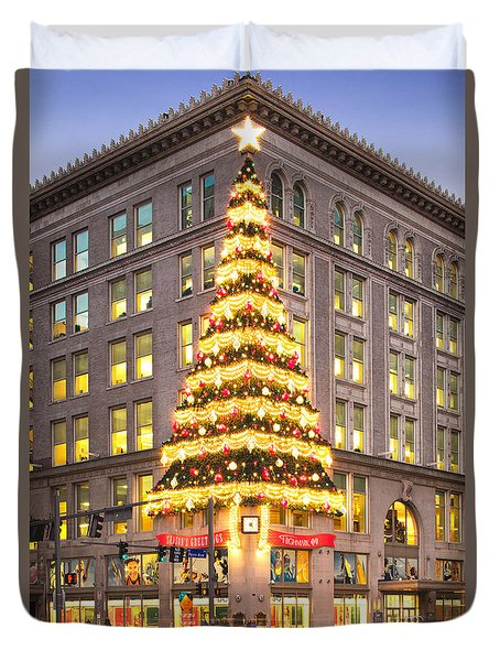 Christmas In Pittsburgh  Duvet Cover