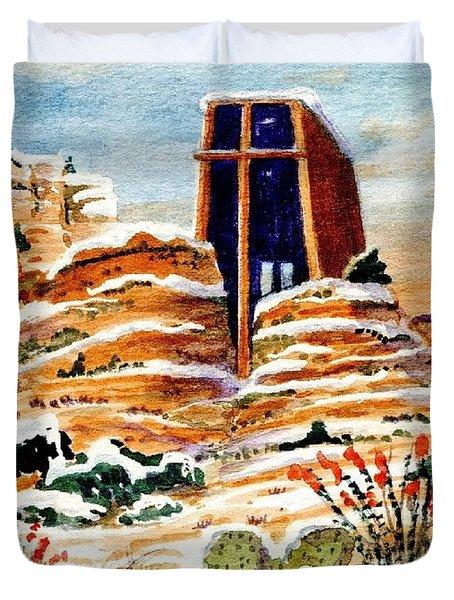 Christmas In Sedona Duvet Cover