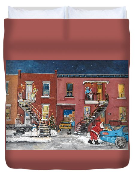 Christmas In The City Duvet Cover