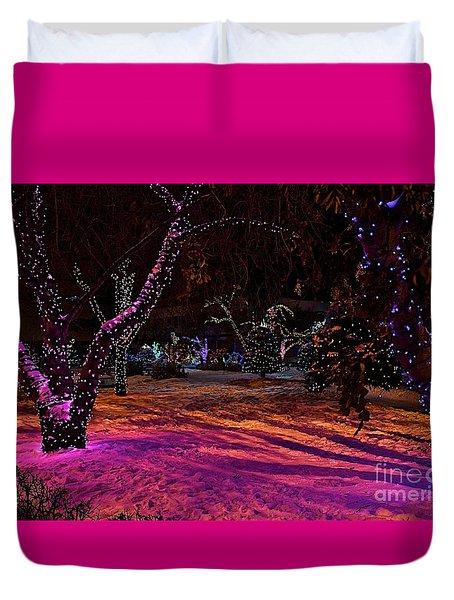 Christmas In The Park Duvet Cover