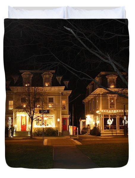 Christmas In Town Duvet Cover