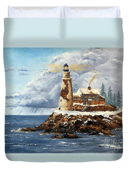 Christmas Island Duvet Cover by Lee Piper