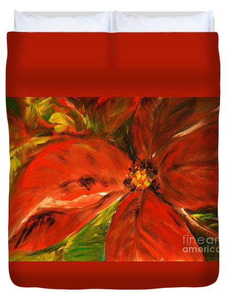 Duvet Cover featuring the painting Christmas Star by Jasna Dragun
