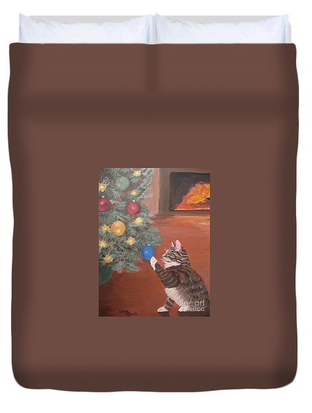 Christmas Kitty Cat Duvet Cover