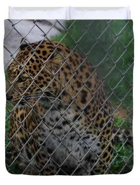 Christmas Leopard I Duvet Cover