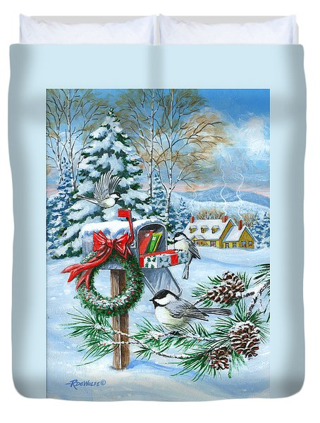 Christmas Mail Duvet Cover
