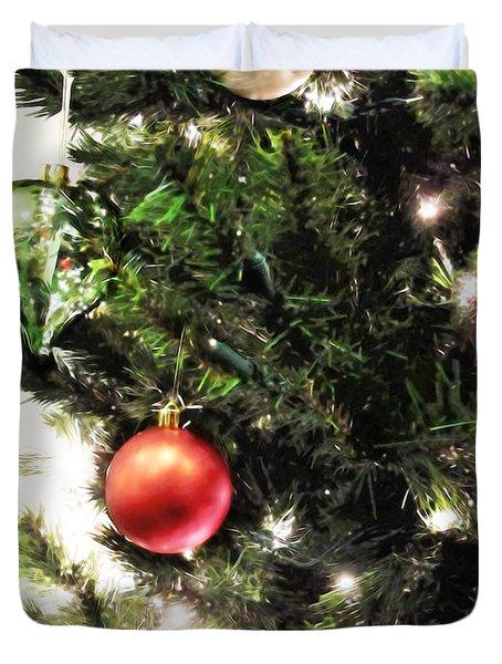 Christmas Ornaments Duvet Cover by Joan  Minchak