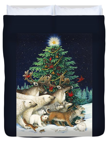 Christmas Parade Duvet Cover