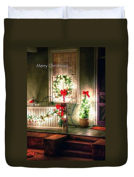 Christmas Porch Duvet Cover