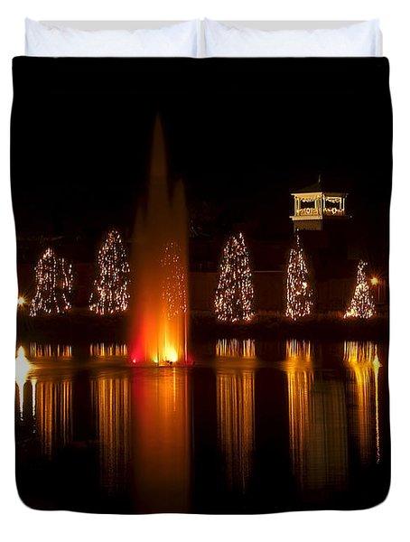 Christmas Reflection - Christmas Card Duvet Cover