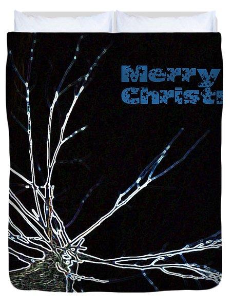 Christmas Reindeer Greeting Duvet Cover by Ausra Huntington nee Paulauskaite