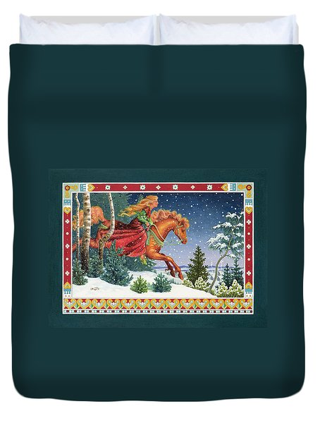 Christmas Ride Duvet Cover