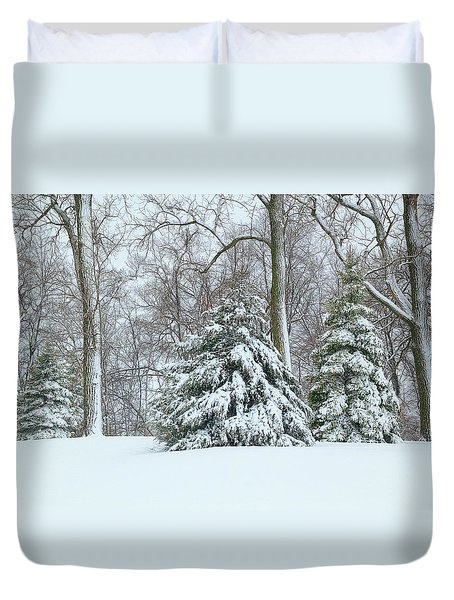 Christmas Snow Duvet Cover