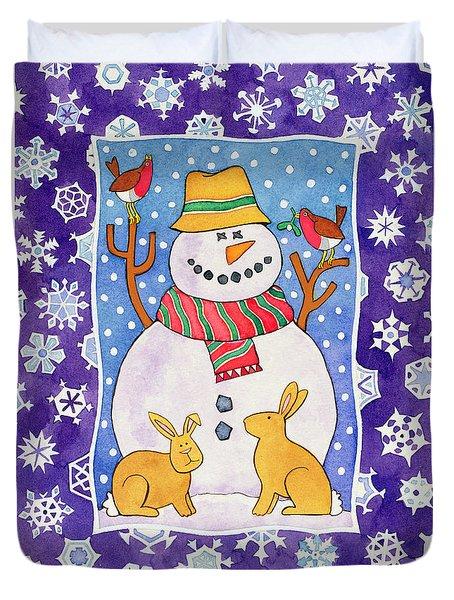 Christmas Snowflakes Duvet Cover