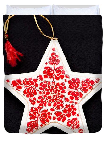 Christmas Star Duvet Cover by Anne Gilbert