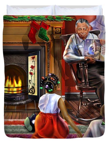 Christmas Story Duvet Cover by Reggie Duffie