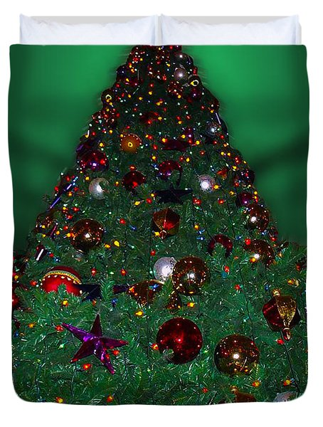 Christmas Tree Duvet Cover by Thomas Woolworth