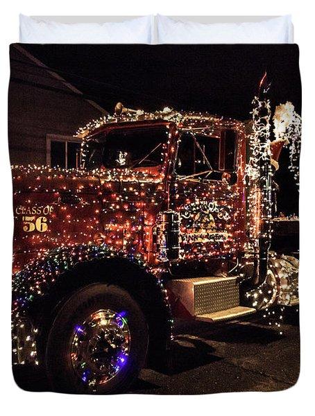 Christmas Truck Duvet Cover