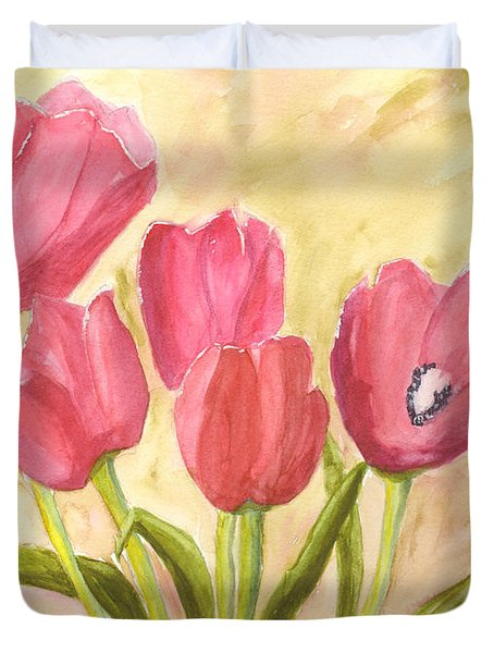 Tulip Time Duvet Cover by Mickey Krause