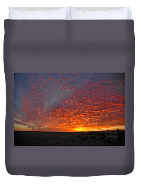 Duvet Cover featuring the photograph Christmas Valley Sunrise by Nick  Boren