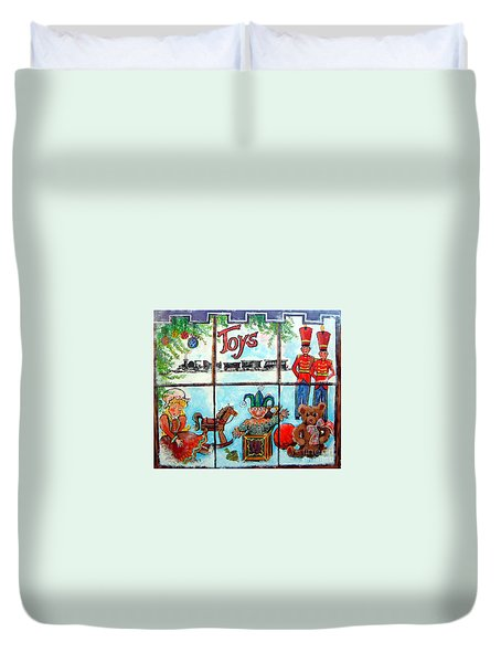 Christmas Window Duvet Cover