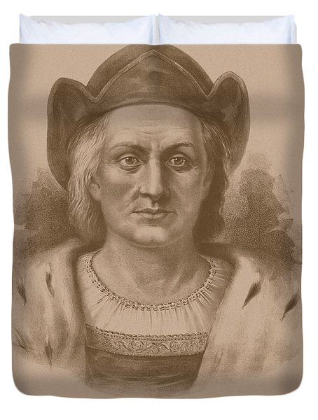 Christopher Columbus Duvet Cover by War Is Hell Store