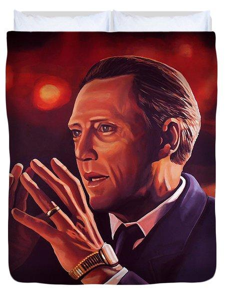 Christopher Walken Painting Duvet Cover