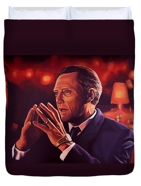 Christopher Walken Painting Duvet Cover by Paul Meijering