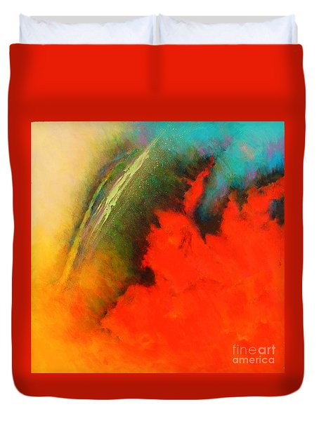 Fantasies In Space Series Painting. Chromatic Vibrations Duvet Cover