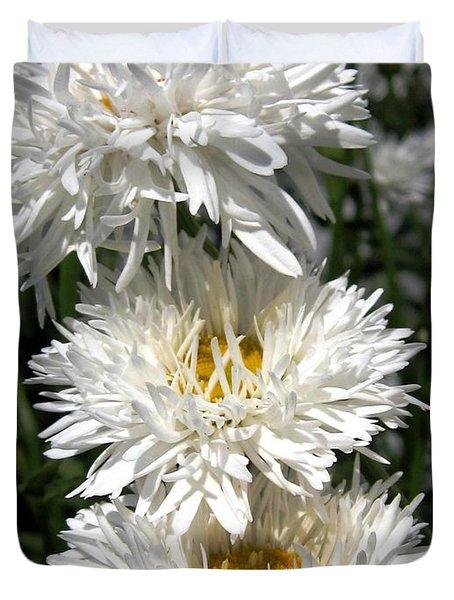 Chrysanthemum Named Crazy Daisy Duvet Cover by J McCombie