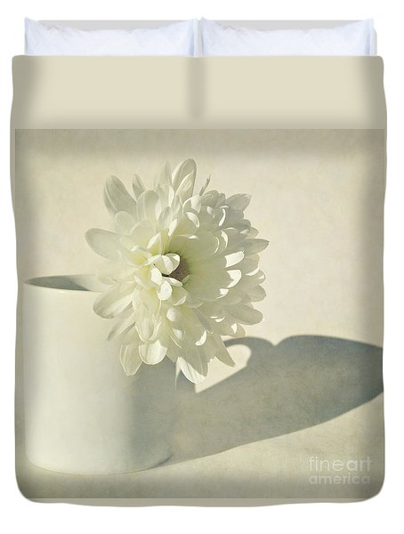 Chrysanthemum Shadow Duvet Cover by Lyn Randle