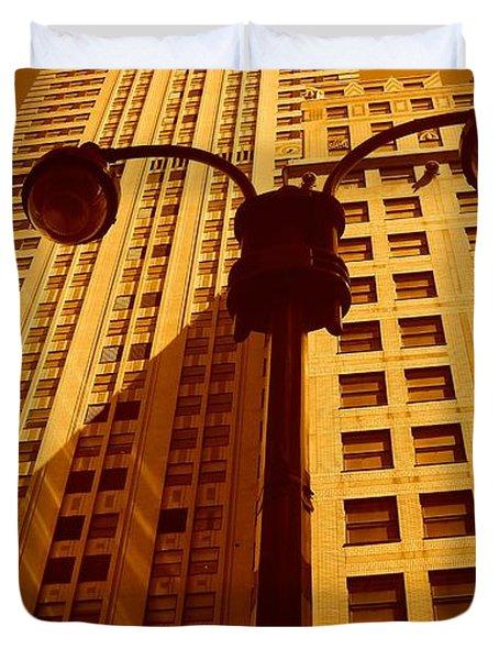 Rockefeller Building In Manhattan Duvet Cover
