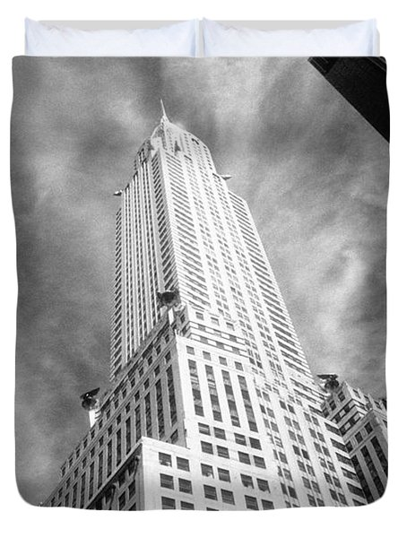 Chrysler Building Infrared Duvet Cover