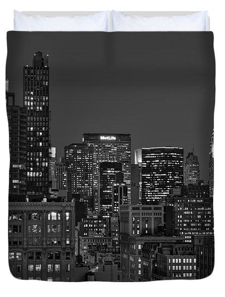 Chrysler Building Twilight Bw Duvet Cover by Susan Candelario