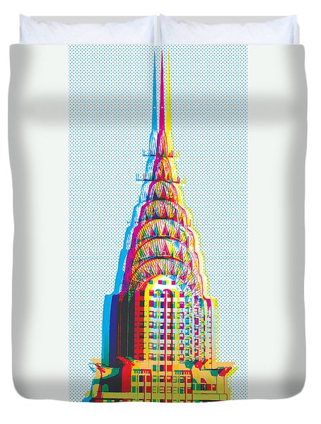Chrysler Pop Art Duvet Cover