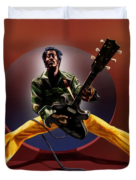 Chuck Berry - This Is How We Do It Duvet Cover