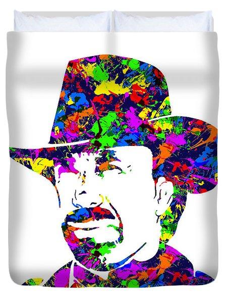 Chuck Norris Paint Splatter Duvet Cover