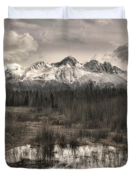 Chugach Mountain Range Duvet Cover