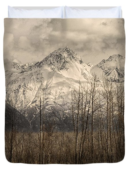 Chugach Mountains In Storm Duvet Cover