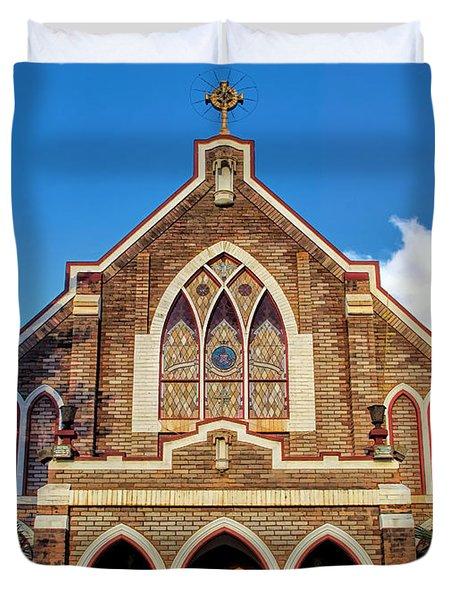 Duvet Cover featuring the photograph Church 1 by Dawn Eshelman