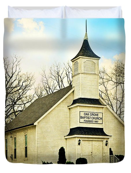 Duvet Cover featuring the photograph Church 12 by Marty Koch