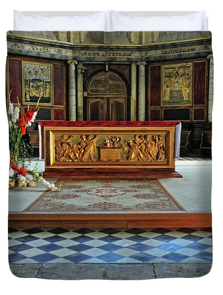 Duvet Cover featuring the photograph Church Alter Provence France by Dave Mills