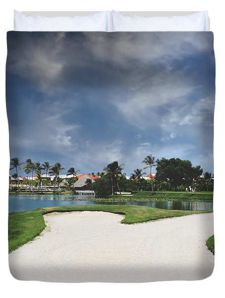 Church And Golf Duvet Cover