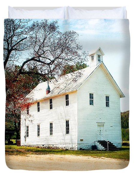 Duvet Cover featuring the photograph Church At Boxley by Marty Koch