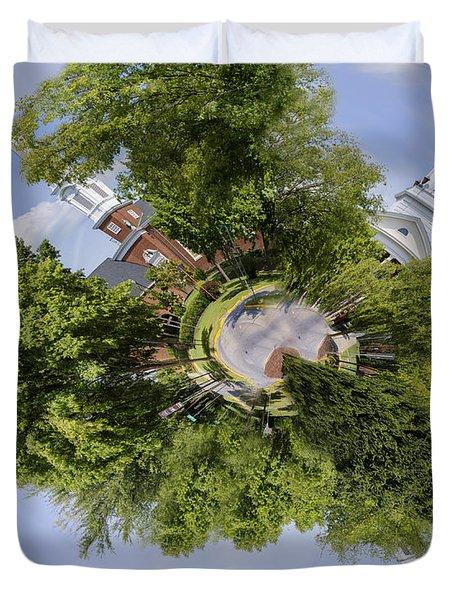 Church Circle Duvet Cover by Heather Applegate
