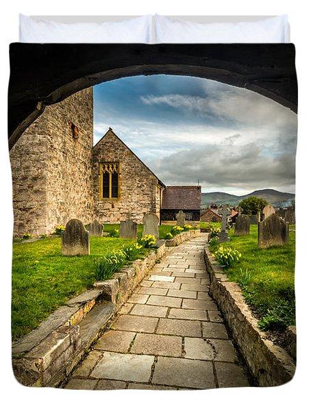 Church Entrance Duvet Cover by Adrian Evans