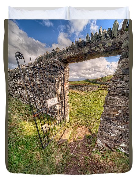 Church Gate Duvet Cover by Adrian Evans