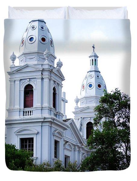 Church In Puerto Rico Duvet Cover by DejaVu Designs