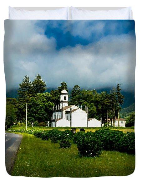 Church In Seven Cities Duvet Cover